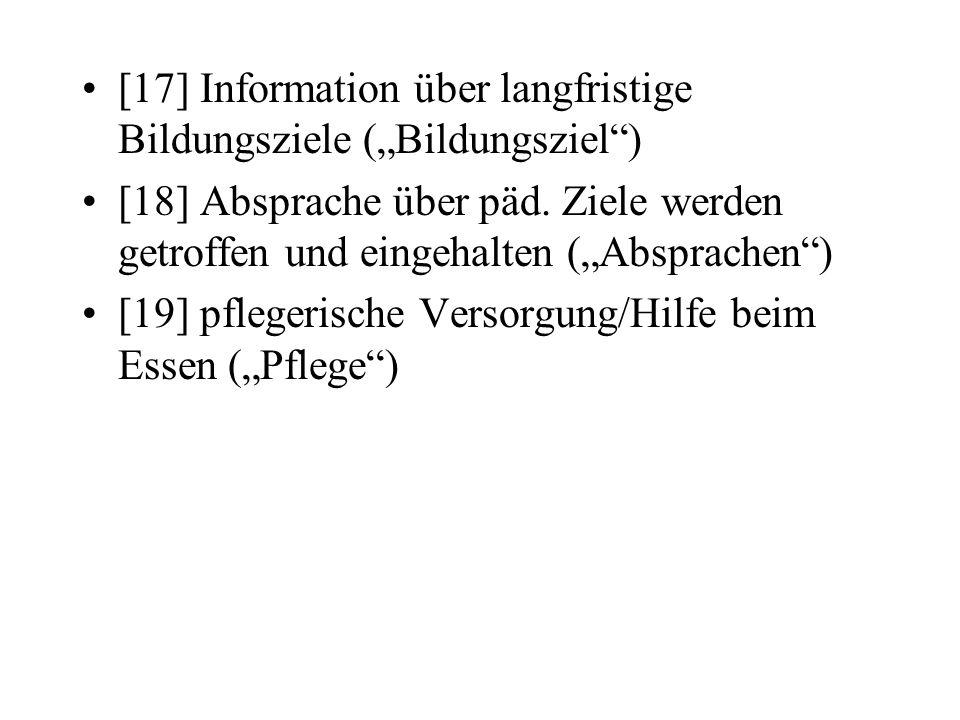 """[17] Information über langfristige Bildungsziele (""""Bildungsziel )"""